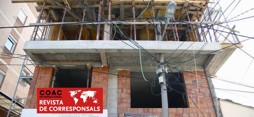 Edifici en construcció a Belgrad.