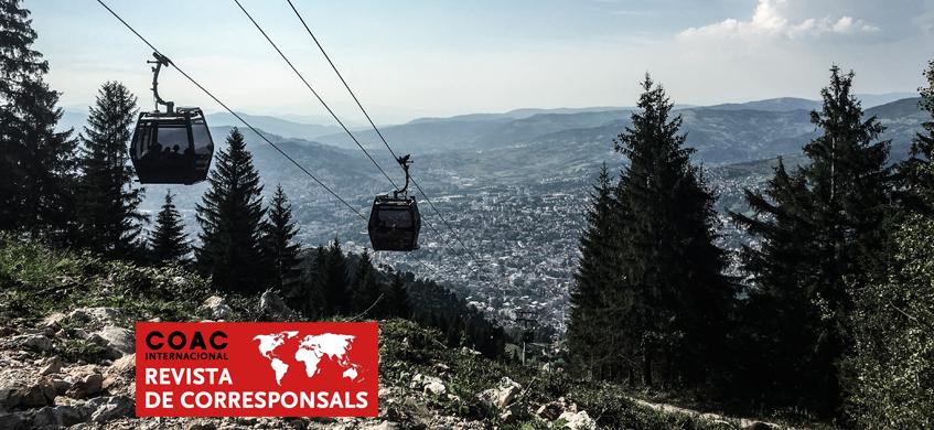 Telecabina a Sarajevo.