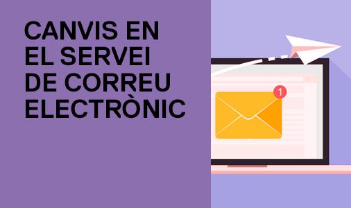 canvis en el servei de correu electrònic
