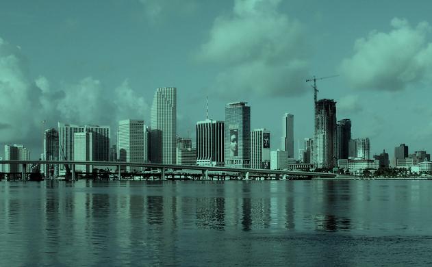 Miami vista desde el mar.
