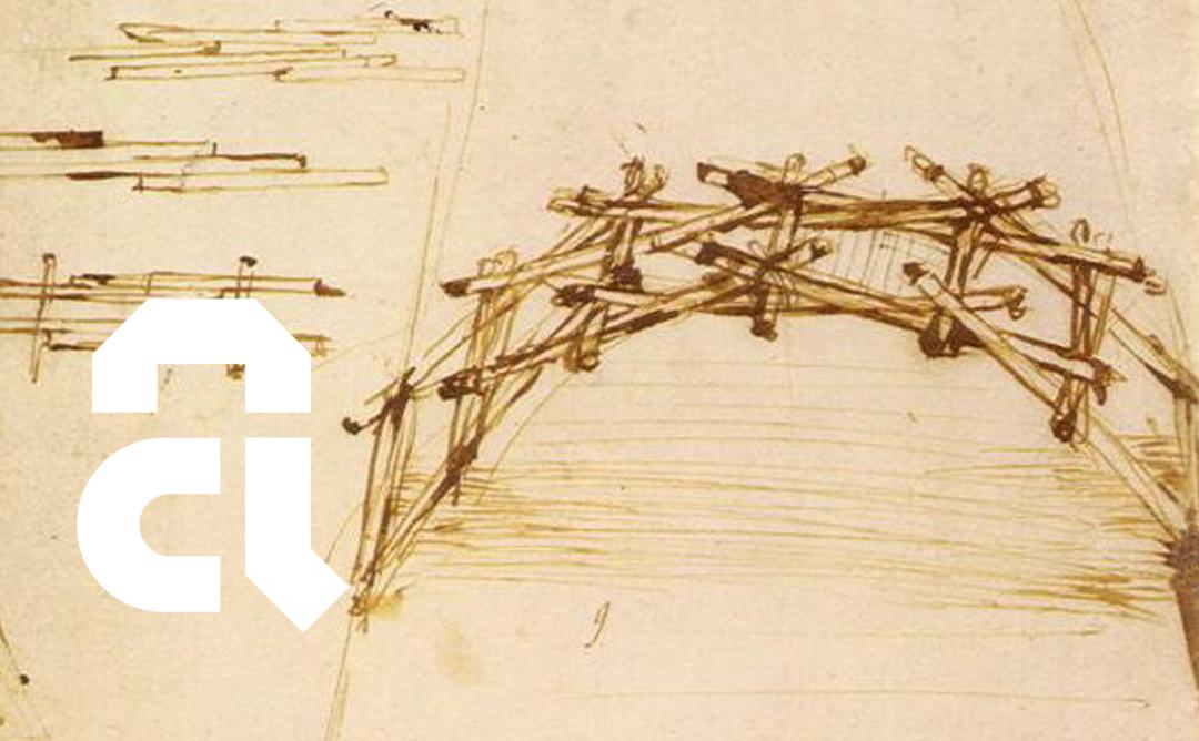 Parc de Collserola: Taller de construcció amb fusta. Pont de Leonardo da Vinci