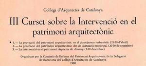 III Curset sobre la intervenció en el patrimoni arquitectònic