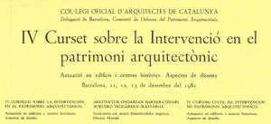 Actuació en edificis i centres històrics. Aspectes de disseny