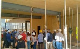 Visita edifici plurifamiliar en fusta