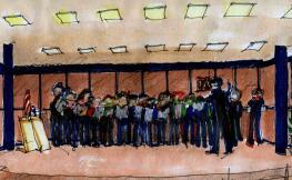 Dibuix de la Coral dels Arquitectes de Catalunya, d'Antoni Morell
