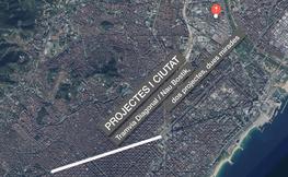 Vista de satel·lit de Barcelona.