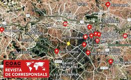 Vista de satèl·lit de São Paulo.