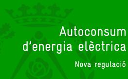 Autoconsum d'energia elèctrica.