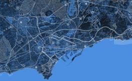 vista satèlit port de barcelona