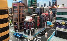 maqueta d'una ciutat resultat del Taller infantil Imagincity
