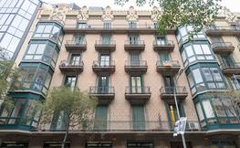 Façana d'un edifici de Barcelona.