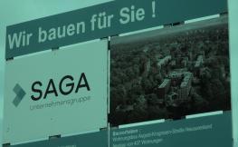 Cartell d'una constructora alemanya.