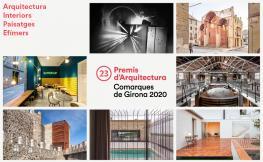 Mosaic de les obres premiades en els Premis d'Arquitectura que formen part del cicle Les obres i els seus autors