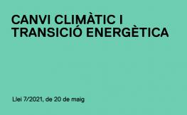 Llei de canvi climàtic i transició energètica