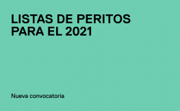 Convocatoria para formar parte de las Listas de Peritos del Colegio de Arquitectos para el 2021