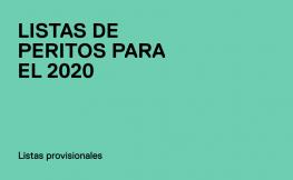 Listas de Peritos 2020