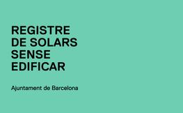 Registre de solars sense edificar