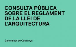 Impuls del reglament de la Llei de l'Arquitectura