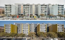 imatge de l'abans i el despres de la remodelació d'un edifici