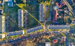 vista de dron de ciutat