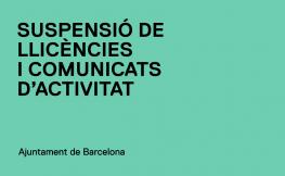 Suspensió potestativa de llicències i comunicats en el marc del Programa Superilles de l'Eixample