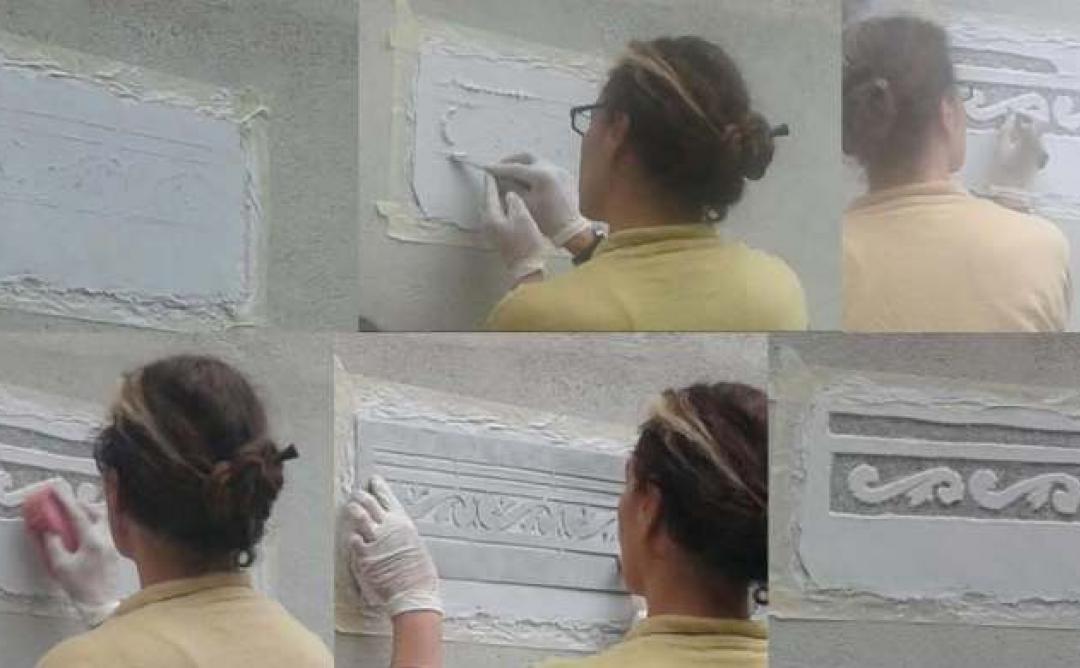 Jornades europees de Patrimoni 2014, taller esgrafiats