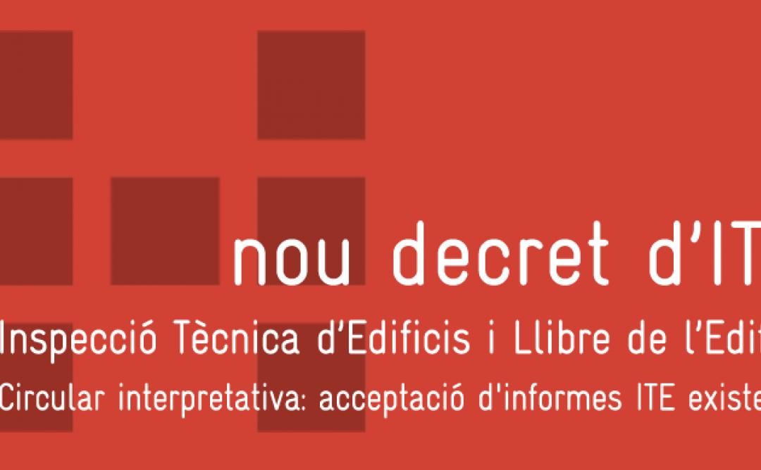 El Nou Decret d'ITE entra en vigor el 27 de maig