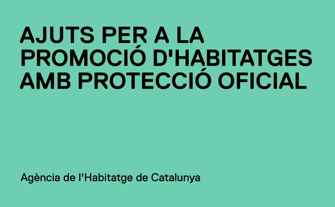 Ajuts per a la promoció d'habitatges protegits en règim de lloguer o cessió d'ús