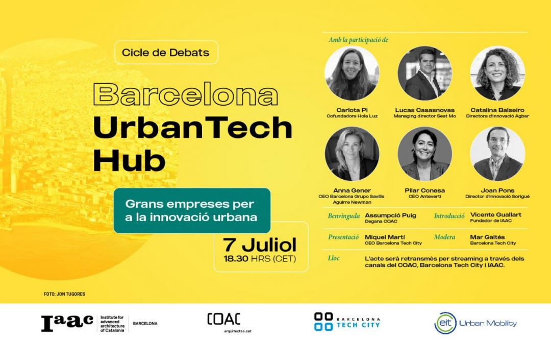 Cartell Barcelona Urban Tech Hub
