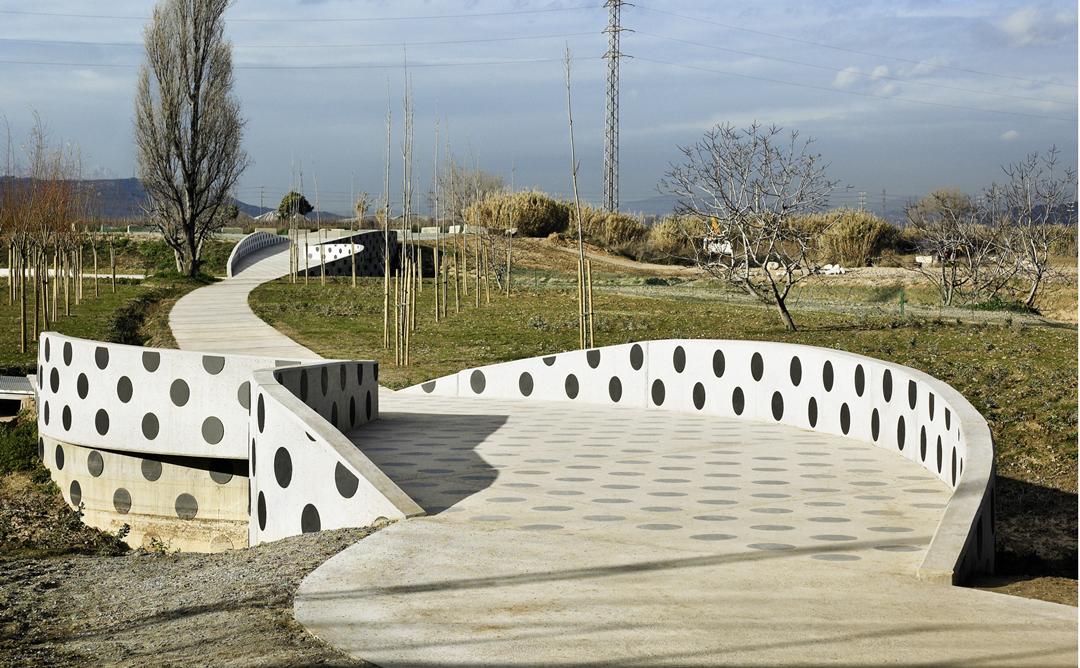 Parc entre Barcelona i Esplugues de Llobregat