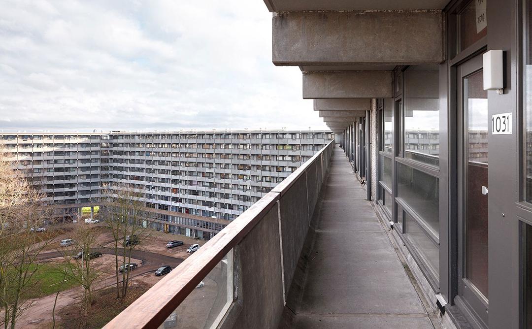 Vista des-de un balcó d'Amsterdam.