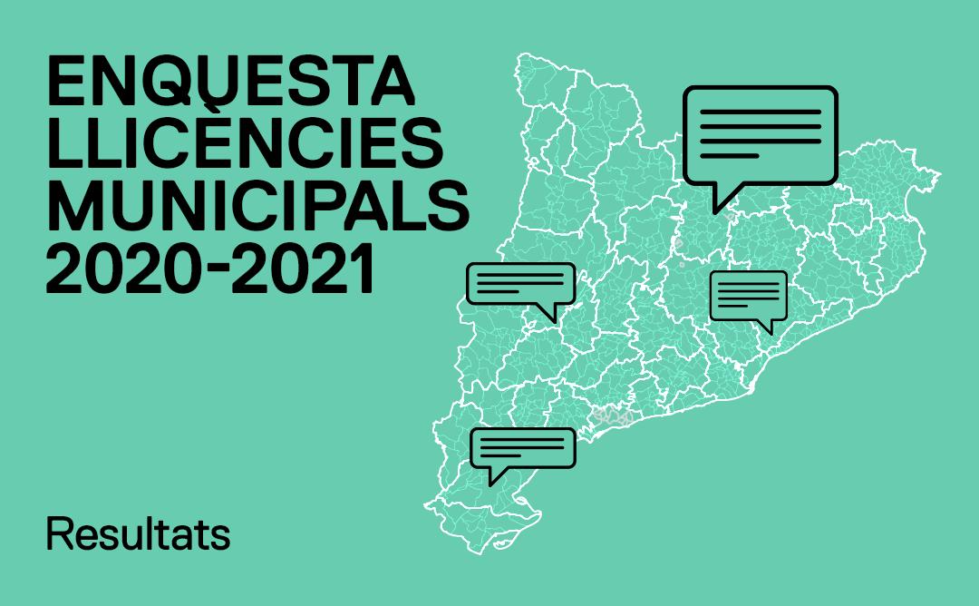 Resultats de l'enquesta sobre llicències municipals a Catalunya