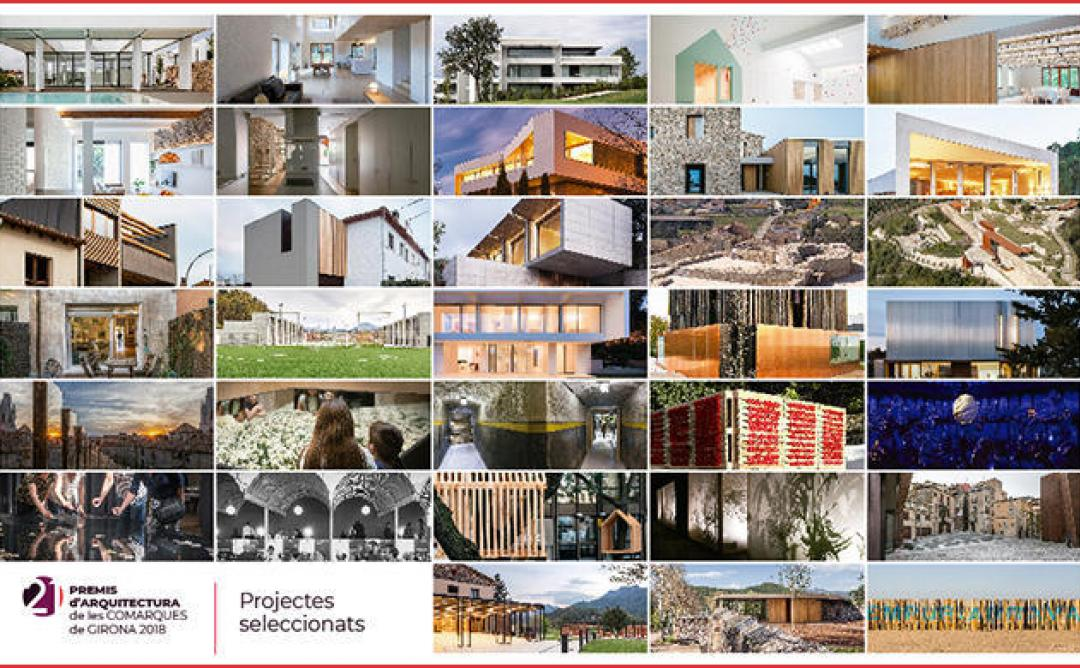 """Exposició: """"Obres seleccionades i premiades dels Premis d'Arquitectura de les Comarques de Girona 2018 - 21 edició"""