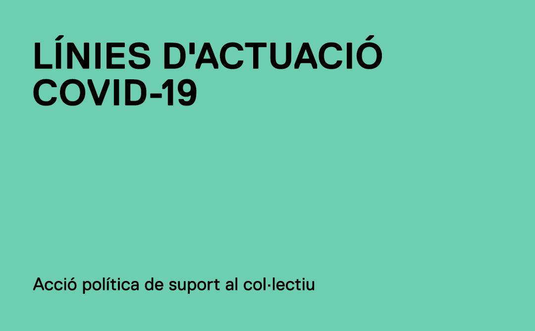 Línies d'actuació i acció política del COAC