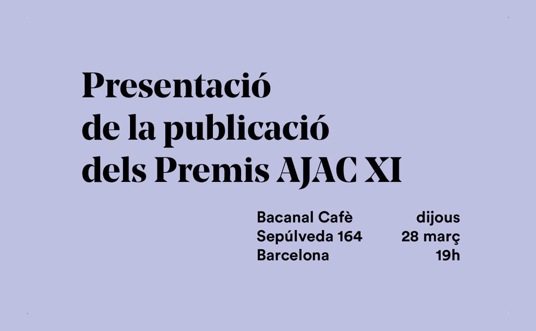 Presentació de la publicació dels Premis AJAC XI