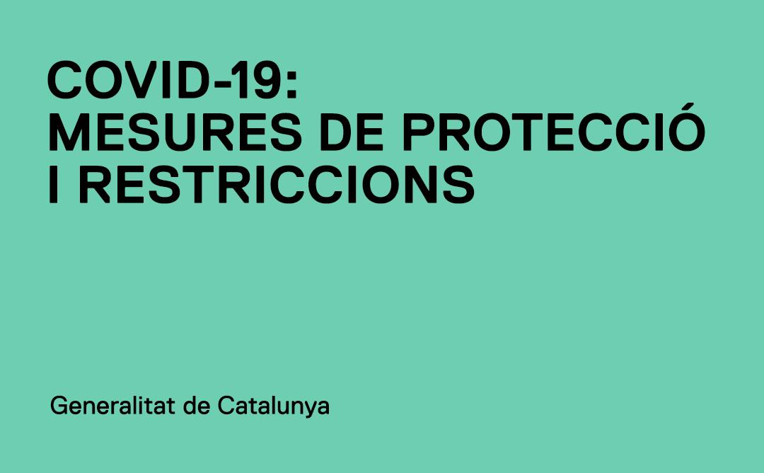 Informació actualitzada sobre les mesures per a la contenció de la COVID-19 a Catalunya