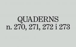 La revista Quaderns ja té nova direcció