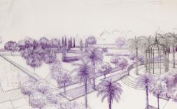 Projecte de remodelació del jardí del restaurant Paradís. Fons Joaquim Maria Casamor d'Espona