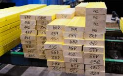 Llistons de fusta numerat.
