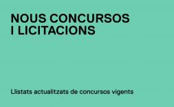 Concursos i licitacions vigents