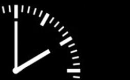 Reloj señalando las 12 y 10.