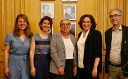 Janet Sanz, Sandra Bestraten, Assumpció Puig, Ada Colau i Josep Maria Montaner