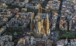 Foto des-de dron de la Sagrada Família.