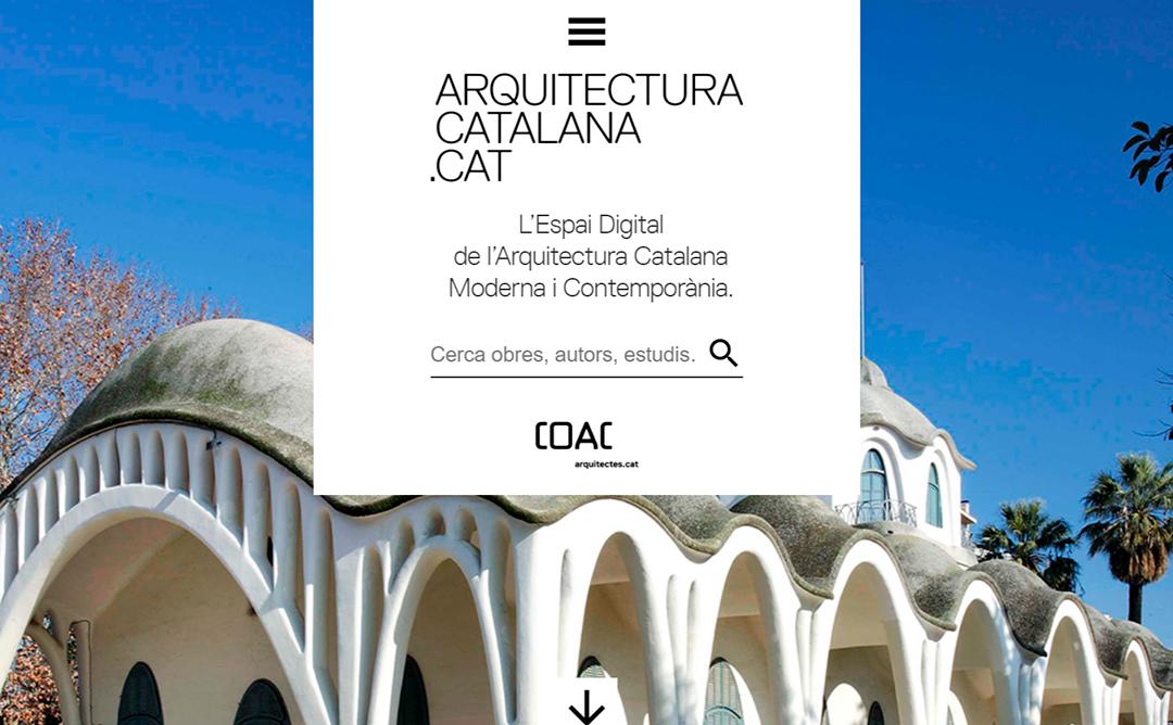 Una imatge del portal arquitecturacatalana.cat