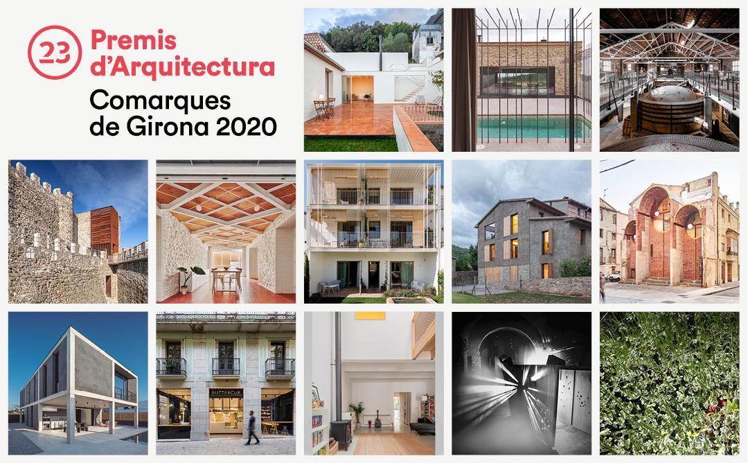 Graella Guardonats Premis d'Arquitectura de les Comarques de Girona 2020